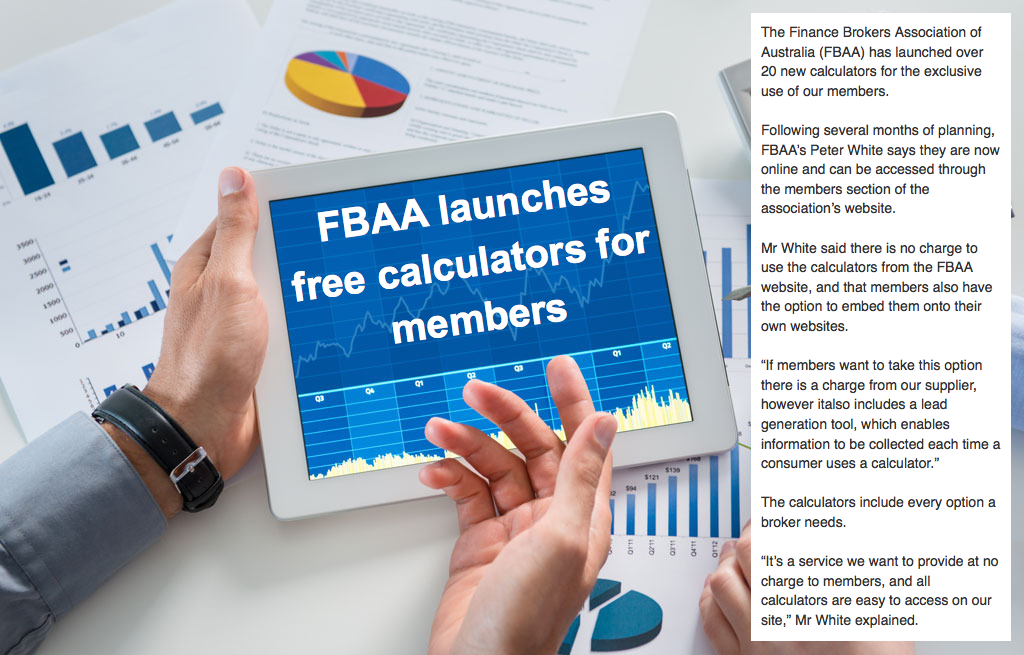 FBAA launches free calculators for members - The Finance